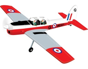 DHC-1 Chipmunk (1640mm) ARF - BH044 Black Horse