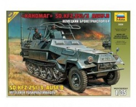 Sd.Kfz.251/3 Ausf.B Communications Vehicle 1:35 | Zvezda 3604