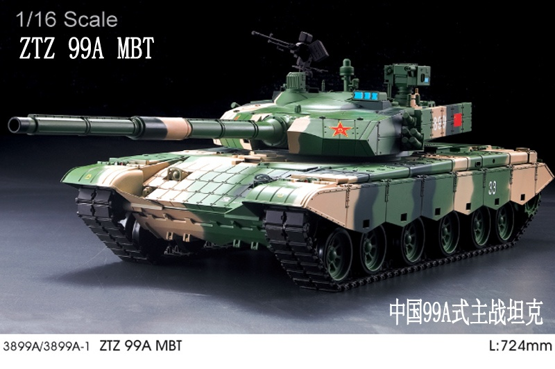ZTZ 99A MBT czołg 1:16 TUNING | Heng Long