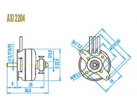 AXI 2204/54 GOLD - Model Motors