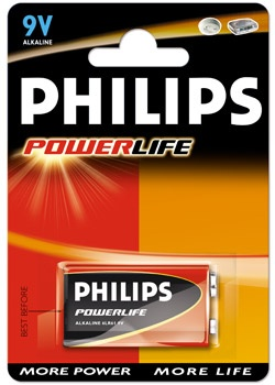 BATERIA 6LR61 9V POWERLIFE - PHILIPS