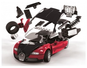 BUGATTI VEYRON  BLACK/RED QUICK BUILD | Airfix 6020