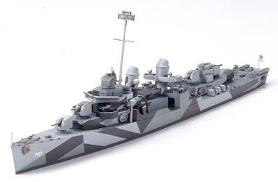 CUSHING U.S.Navy Fletcher Class Destroyer DD-797 1:700 |Tamiya 31907