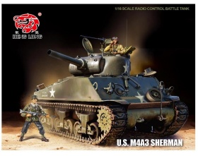 M4A3 Sherman czołg 1:16 |3898-1-2,4 HENG LONG
