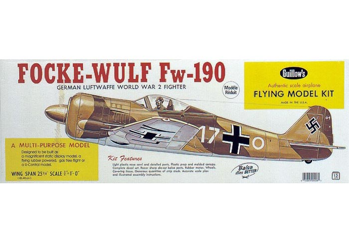 Focke-Wulf FW-190 654mm - 406 Guillow