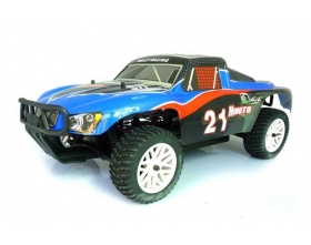HIMOTO Short Course 1:10 Electric 4WD RTR (niebieski - carbon)