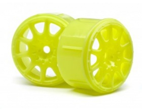 METHOD RALLYCROSS WHEEL YELLOW (MICRO RS4/4PCS)-HPI 113089