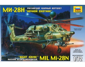 Mil Mi-28N Night Havoc Modern Russian Attack Helicopter 1:72 | Zvezda 7255