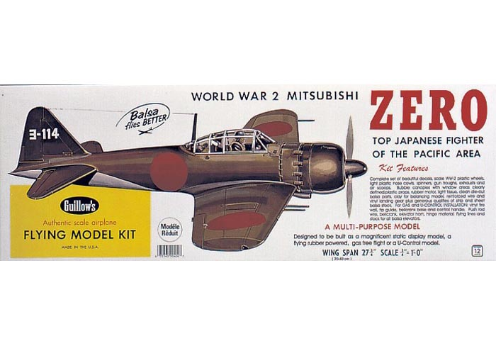 Mitsubishi Zero 702mm - 404 Guillow