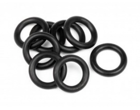 O-RING 7x11x2.0mm (BLACK/8pcs)-HPI 75080