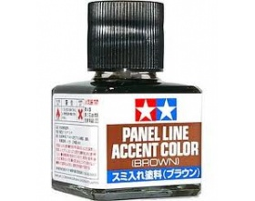 Panel Line Accent Color - Brown - 40ml | Tamiya 87132