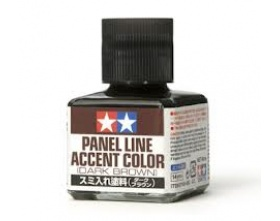 Panel Line Accent Color - Dark Brown - 40ml | Tamiya 87140