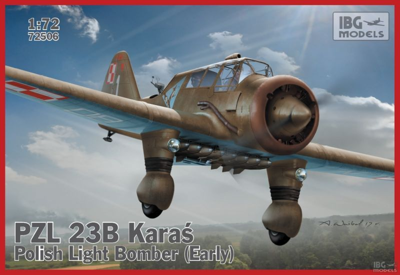 PZL. 23B Karaś - Polish Light Bomber (Early production) 1:72 | IBG 72506