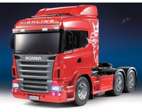 Scania R620 6x4 Highline Full Option Red RTR - Tamiya 23670