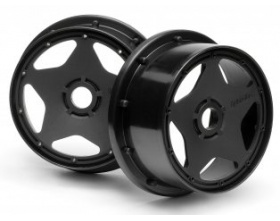 SUPER STAR WHEEL BLACK (120x75mm/2pcs)-HPI 3226