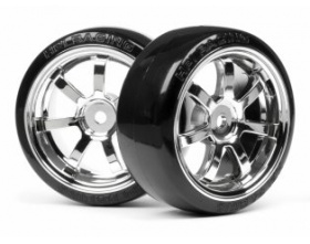 T-DRIFT TIRE 26mm RAYS 57S-PRO WHEEL CHROME-HPI 4739