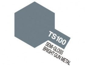 TS-100 SG Bright Gun Metal Spray 100ml | Tamiya 85100