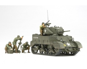 US Light Tank M5A1 - Pursuit Operation w/4 Figures 1:35 | Tamiya 35313