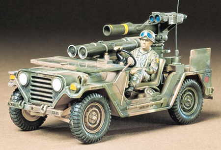 US M151A2 W/TOW Missle Launcher 1:35 | Tamiya 35125