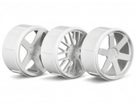 WHEEL SET (WHITE/MICRO RS4)-HPI 73410
