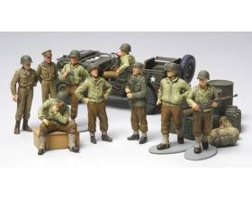 WWII US Infantry at rest with Jeep 1:48 | Tamiya 32552